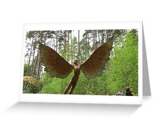 Icarus spreads his wings Greeting Card