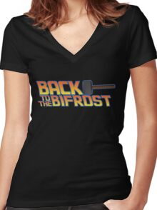 Back to the Bifrost Women's Fitted V-Neck T-Shirt
