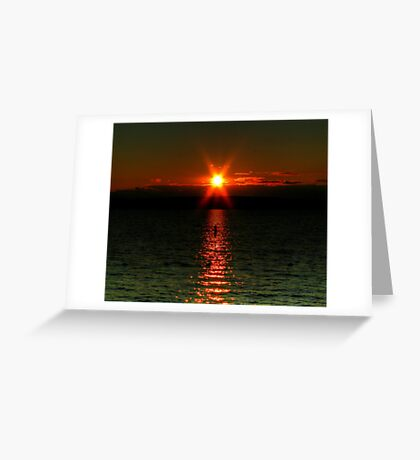"""Starry-Eyed"" Sunset Greeting Card"