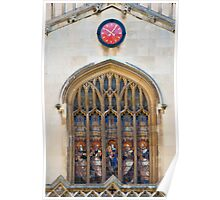 Stained glass window - Cambridge University Poster