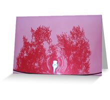 Street Rod Art: Red Trees Greeting Card