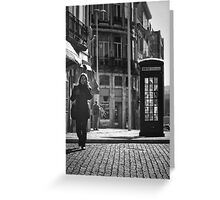 The Dying Telephone Booth Greeting Card