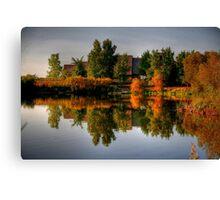 Autumn on Lake Devonian Canvas Print