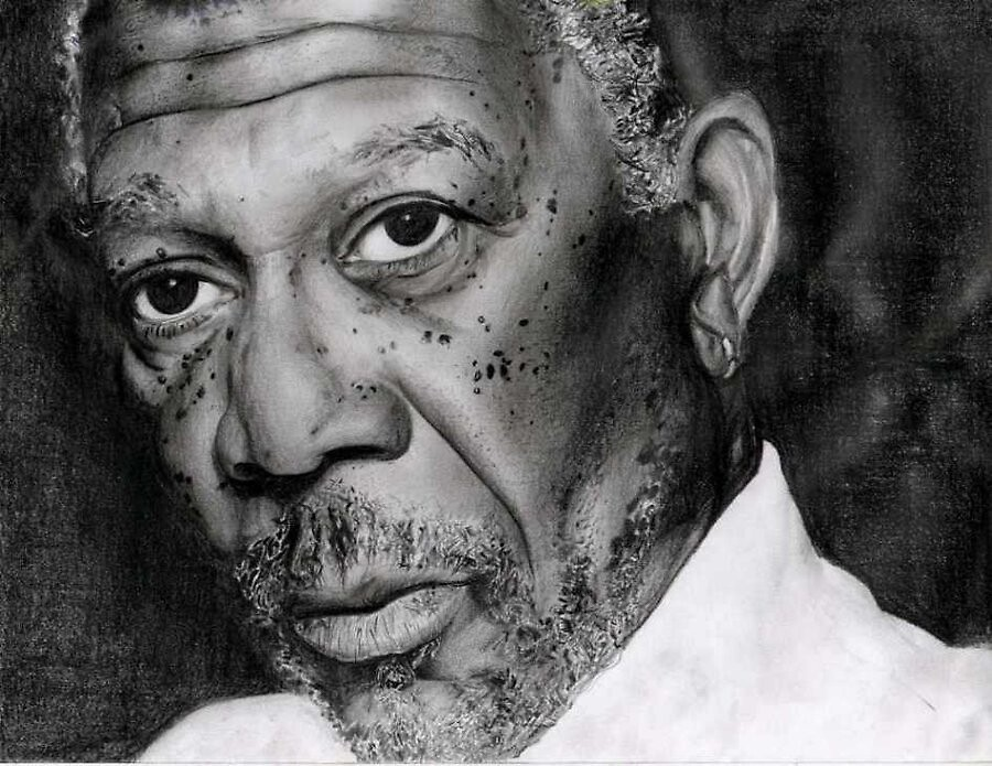 Morgan Freeman by valerieg1