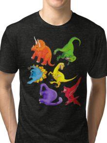Colourful Dinos! Tri-blend T-Shirt