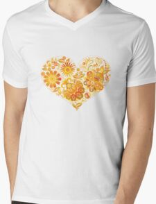 Yellow floral heart T-Shirt