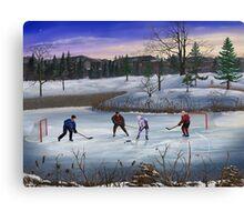Pond Hockey Canvas Print