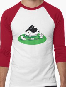 """Bunnicula"" - Veggie Vampire Men's Baseball ¾ T-Shirt"
