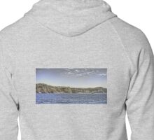 Cruise Ship and Cliffs Zipped Hoodie