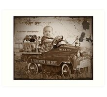 Little Fireman Art Print