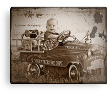Little Fireman Metal Print