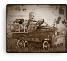 Little Fireman Canvas Print