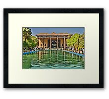 Upon Reflection - Chehel Sotoun - 40 Columns Palace - Esfahan - Iran Framed Print