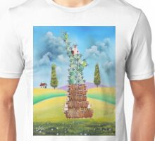 Statue of liberty made of sheep and cows Unisex T-Shirt
