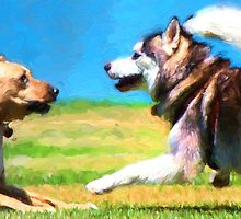"""""""Dog Park"""" 1 by kcd-designs"""