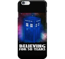 DR WHO BELIEVING iPhone Case/Skin