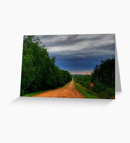 The Long Lonely Road Greeting Card