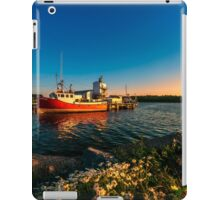 Late in the Day at Fisherman's Cove  iPad Case/Skin