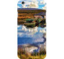 Autumn Loch in Scotland with Farm iPhone Case/Skin