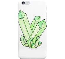 Green Crystal Cluster iPhone Case/Skin