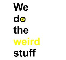 We do the weird stuff (hammer in o) Photographic Print