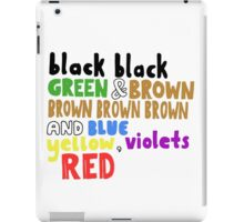 Colours - Grouplove iPad Case/Skin