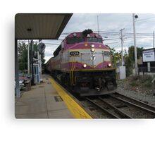 1129 MBTA Commuter Rail Canvas Print