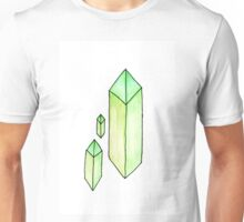 Floating Green Crystals Unisex T-Shirt