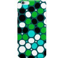Green polka dot print iPhone Case/Skin