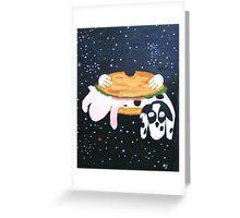 Bacon double hamburger Greeting Card