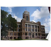 Johnson County Courthouse, Cleburne, Texas Poster