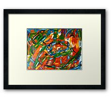 Vibrant Exploration Framed Print