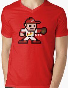 STL Pixel Guy Mens V-Neck T-Shirt