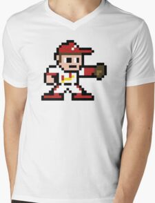 STL Pixel Guy Mens V-Neck T-Shirt