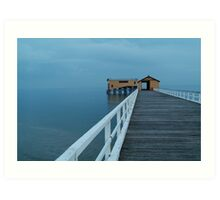 Twilight Mist, Queenscliff Pier Art Print