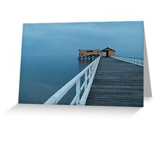 Twilight Mist, Queenscliff Pier Greeting Card