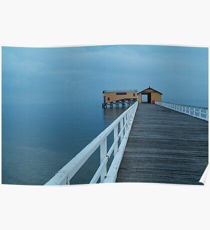 Twilight Mist, Queenscliff Pier Poster