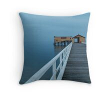 Twilight Mist, Queenscliff Pier Throw Pillow