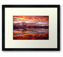 Rolling Thunder Sunset Framed Print