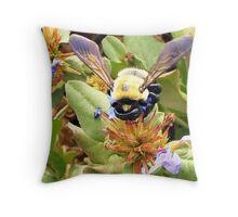 Fuzzy Bee Throw Pillow