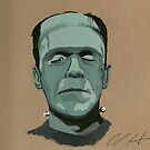 Frankenstein portrait by lessthaned