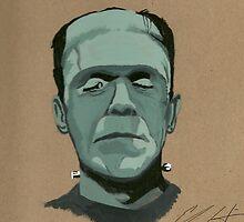 Frankenstein portrait by lessthaned
