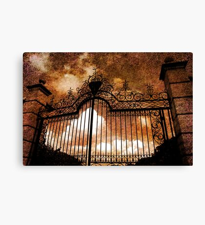 Who is knocking on heavens door Canvas Print