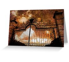 Who is knocking on heavens door Greeting Card