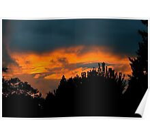 Sunset at Eldorado Villas Poster