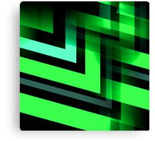 Energetic (green-black) Canvas Print