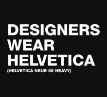Designers wear Helvetica One Piece - Short Sleeve
