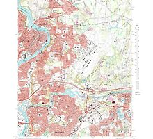 Massachusetts  USGS Historical Topo Map MA Springfield North 351331 1972 25000 by wetdryvac