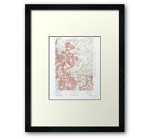 Massachusetts  USGS Historical Topo Map MA Springfield North 351331 1972 25000 Framed Print
