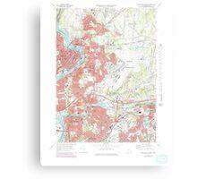 Massachusetts  USGS Historical Topo Map MA Springfield North 351331 1972 25000 Canvas Print